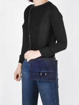 Shoulder Bag Velvet Milano Blue velvet VE180602-vue-porte
