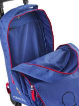Wheeled Backpack Fc barcelone Green we are 490-8798-vue-porte