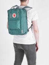 """Backpack Kånken 1 Compartment + Pc15"""" Fjallraven Green kanken 27172-vue-porte"""