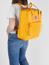 "Backpack 1 Compartment Kånken 17"" Fjallraven Yellow kanken 27173-vue-porte"