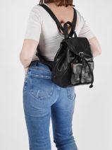 Backpack Le Baroudeur Paul marius Black vintage BAROUDEU-vue-porte