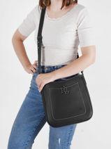 Shoulder Bag Cameryn Leather Lauren ralph lauren Black cameryn 31837539-vue-porte