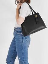 Shoulder Bag Quinn Leather Lauren ralph lauren Black quinn 31818738-vue-porte