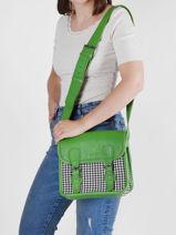 Leather Sacoche Grand Prix Crossbody Bag Paul marius Green grand prix SACOSGPX-vue-porte