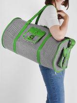 Leather Grand Prix Travel Bag Paul marius Green grand prix VOYXLGPX-vue-porte