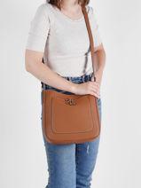 Shoulder Bag Cameryn Leather Lauren ralph lauren Brown cameryn 31837539-vue-porte