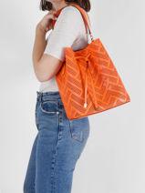Shoulder Bag Dryden Leather Lauren ralph lauren Orange dryden 31818854-vue-porte
