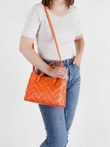 Top Handle Dryden Leather Lauren ralph lauren Orange dryden 31824872-vue-porte