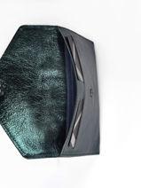 Leather Wallet Etincelle Etrier Blue etincelle irisee EETI054-vue-porte