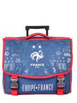 Wheeled Schoolbag 2 Compartments Federat. france football Blue le coq 203X203R