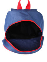 Backpack 1 Compartment Federat. france football Blue equipe de france 203X201S-vue-porte