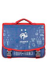 Cartable 2 Compartiments Federat. france football Bleu le coq 203X203S