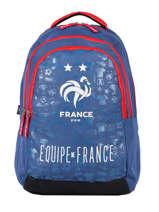 Sac à Dos 3 Compartiments Federat. france football Bleu le coq 203X204I