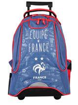 Sac à Dos à Roulettes 2 Compartiments Federat. france football Bleu equipe de france 203X204R