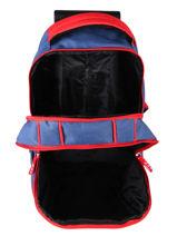 Wheeled Backpack 2 Compartments Federat. france football Blue equipe de france 203X204R-vue-porte