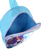 Backpack Mini 1 Compartment Frozen Blue anna et elsa FROTW03-vue-porte