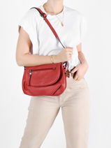 Shoulder Bag Gracieuse Hexagona Red gracieuse 315311-vue-porte