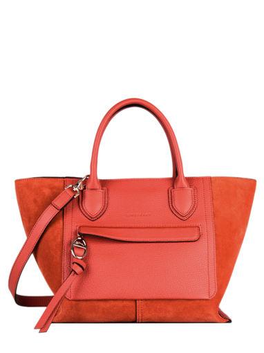 Longchamp Mailbox soft Sacs porté main Rouge
