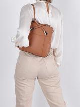 Backpack And Shoulder Hexagona Brown confort 462107-vue-porte