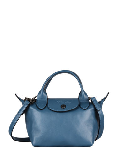 Longchamp Le pliage cuir Handbag Blue