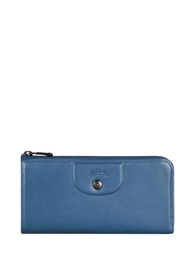 Longchamp Le pliage cuir Wallet Blue