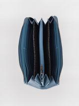 Longchamp Le pliage cuir Wallet Blue-vue-porte