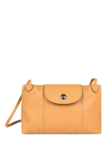 Longchamp Le pliage cuir Messenger bag Orange
