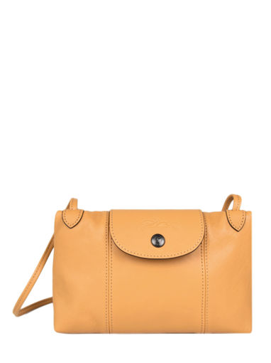 Longchamp Le pliage cuir Messenger bag Yellow