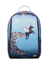 Backpack James Girl 2 Compartments Jeune premier Blue daydream girls G