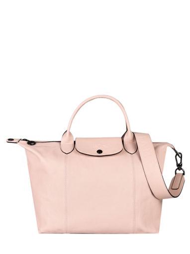 Longchamp Le pliage cuir Handbag Pink