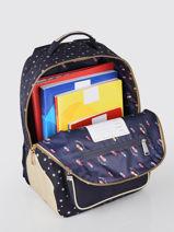 Backpack Bobbie Boy 2 Compartments Jeune premier Blue daydream girls G-vue-porte