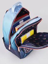 Backpack James Girl 2 Compartments Jeune premier Blue daydream girls G-vue-porte