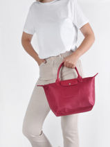 Longchamp Le pliage neo Handbag Red-vue-porte