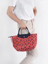 Longchamp Le pliage lgp Handbag Red-vue-porte