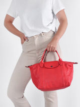 Longchamp Le pliage cuir Sacs porté main-vue-porte