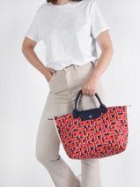 Longchamp Le pliage lgp Sacs porté main Rouge-vue-porte