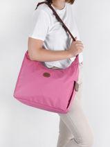 Longchamp Le pliage Messenger bag Pink-vue-porte