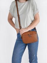 Crossbody Bag Cameryn Leather Lauren ralph lauren Brown cameryn 31837540-vue-porte