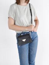 Crossbody Bag Grace Leather Michael kors Black grace T1GGHC2L-vue-porte