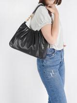 Hobo Bag Hannah Leather Michael kors Black hannah T1GNNL2U-vue-porte