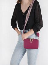 Shoulder Bag City Philos Leather Lancaster Pink city philos 70-vue-porte