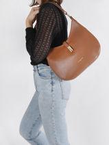 Bucket Bag Milano Leather Lancaster Brown milano 49-vue-porte