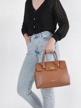 Shoulder Bag Milano Lancaster Brown milano 56-vue-porte