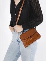 Leather Exotic Croco Crossbody Bag Lancaster Brown exotic croco 84-vue-porte