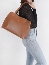 Shopping Bag Foulonne Double Lancaster Brown foulonne double 48-vue-porte