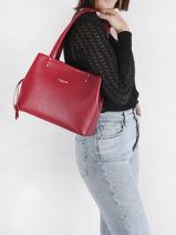 Shopping Bag Foulonne Double Lancaster Red foulonne double 47-vue-porte