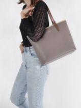 Shoulder Bag A4 Constance Leather Lancaster constance 8-vue-porte