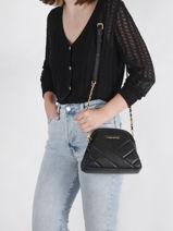 Shoulder Bag Croise Matelasse Leather Lancaster Black croise matelasse 13-vue-porte