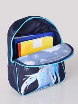 Mini Backpack 1 Compartment Frozen Blue flocon 3GLAC-vue-porte