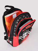 Sac A Dos 1 Compartiment Stade toulousain Red rugby 193T201S-vue-porte